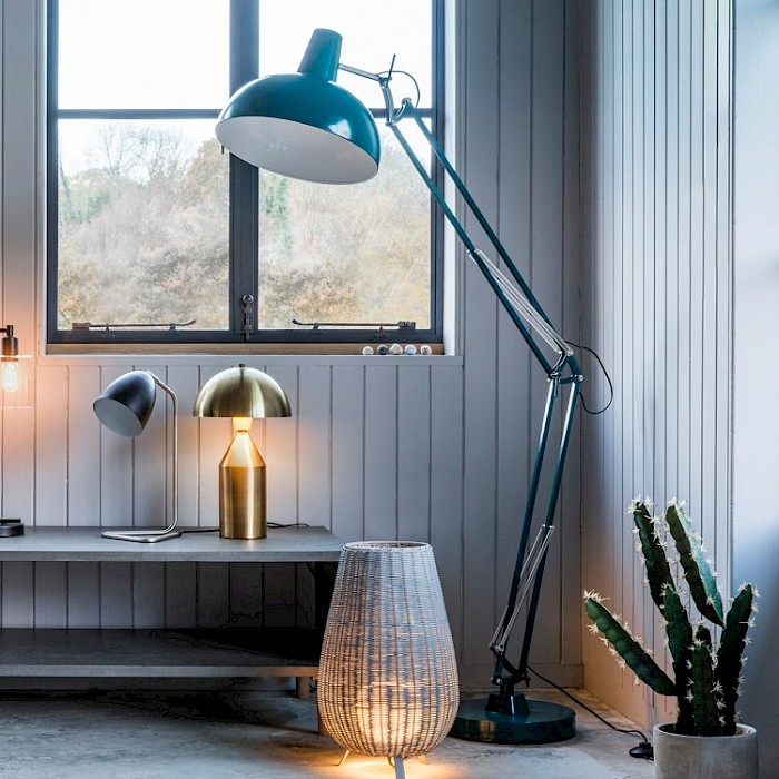 Harry Floor Lamp, Teal
